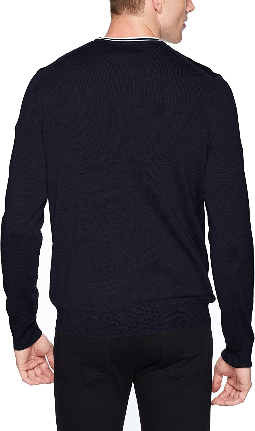 Fred Perry Men's Classic Crew Neck Sweater Dark Carbon