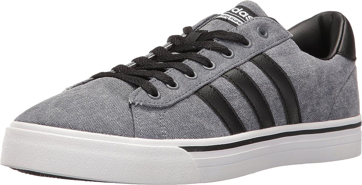 ... czech amazon adidas mens cloudfoam super daily fashion sneakers black  black white 6.5 m us shoes 30ae670e4