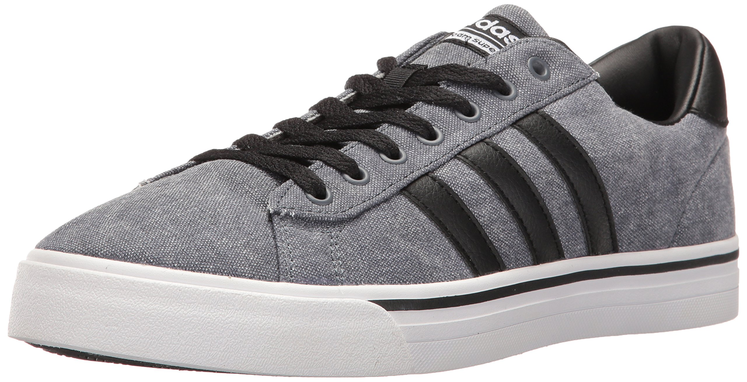 adidas Men's Cloudfoam Super Daily Sneakers, Black/Grey/White, (10 M US) by adidas
