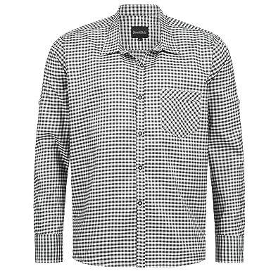 Bongossi-Trade Trachtenhemd für Trachten Lederhosen Freizeit Hemd blau-kariert Gr S-XXXL Streetwear