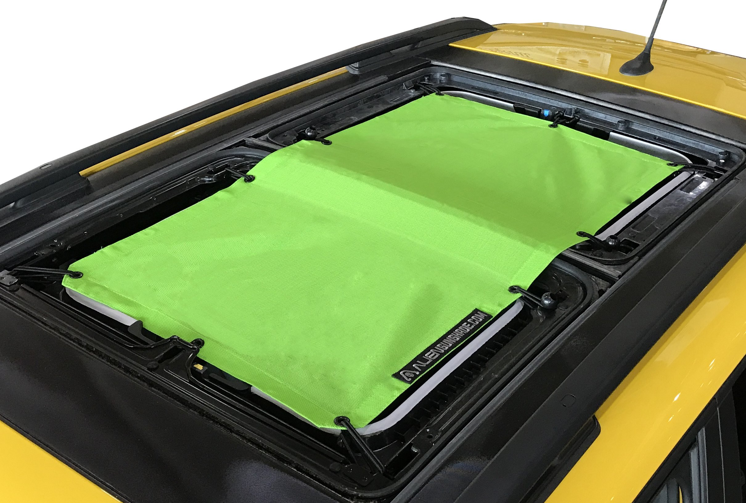 Alien Sunshade for Jeep Renegade - Provides UV Protection for Passengers with MySky (Green)