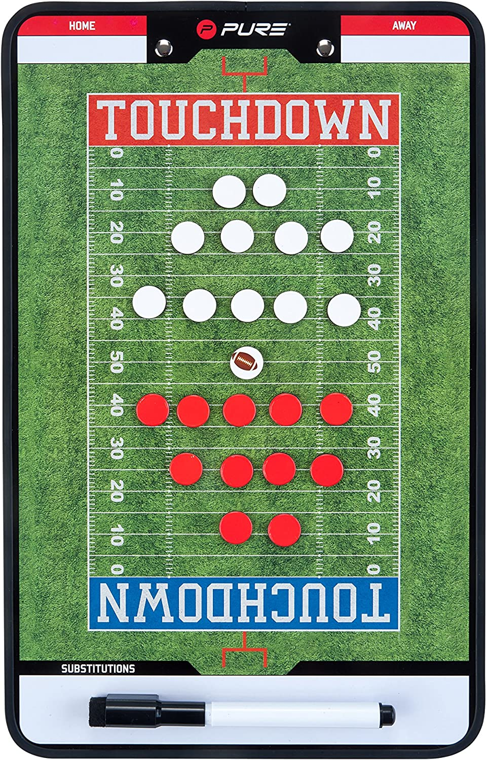 Pure2Improve Unisexs American Football Coach Board Green One Size