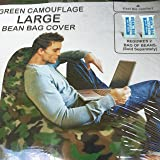 Bean Bag Factory Large Bean Bag, Green Camouflage Cover