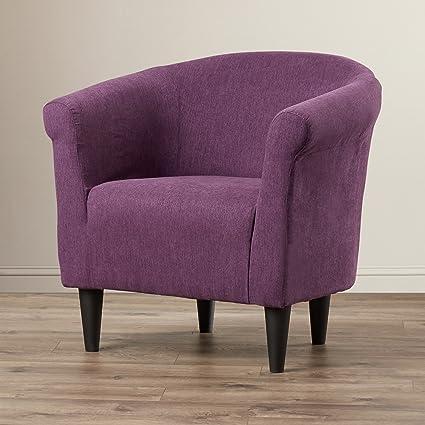 Amazon.com: Modern Barrel Chair - Chic Contemporary Accent Furniture ...