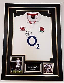 768db7a2b www.signedmemorabiliashop.co.uk NEW Owen Farrell Signed ENGLAND RUGBY SHIRT    AFTAL