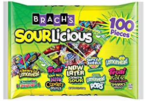 Brach's Sourlicious Variety Candy Mix, 100 Count