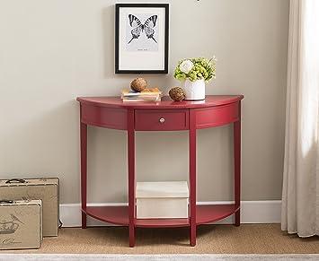 Amazon.com: Kings marca acabado rojo muebles consola de ...