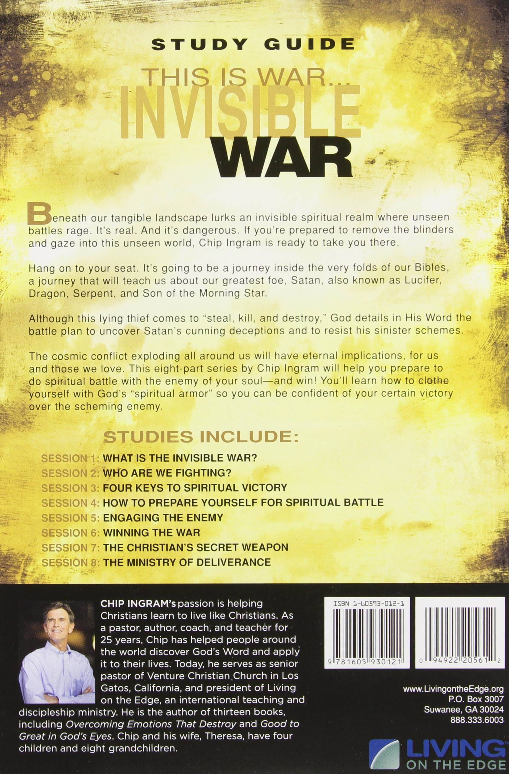the invisible war study guide what every believer needs to know rh amazon com chip ingram the invisible war study guide pdf The Invisible War Barnhouse