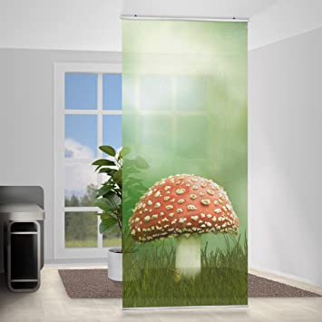 awesome paravent rideau fly agaric incl querre taille x cm. Black Bedroom Furniture Sets. Home Design Ideas