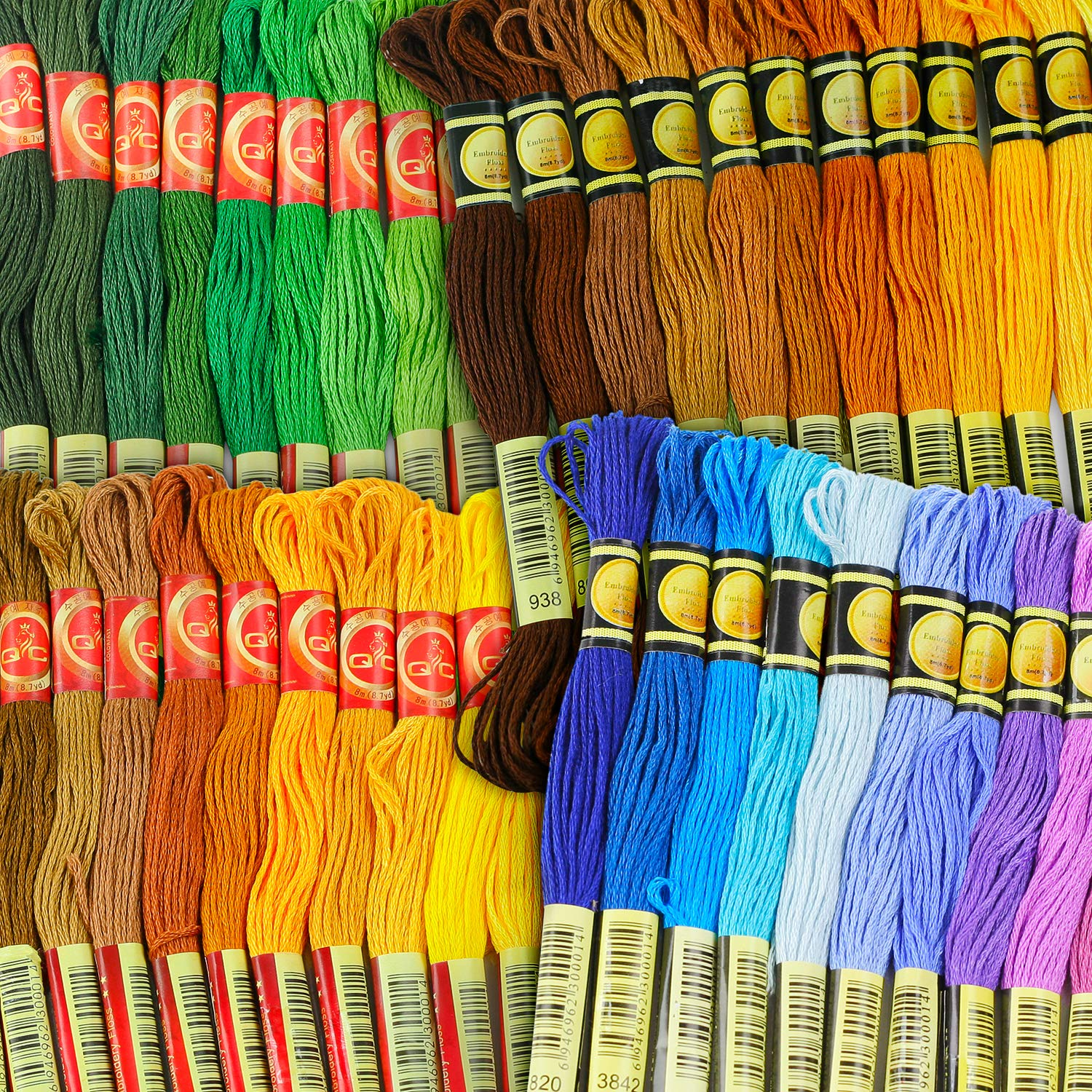 Embroidery Thread - Full 477 Skeins Rainbow Color Embroidery Floss Set - Excellent Cross Stitch Threads Friendship Bracelets Kit by ThreadNanny