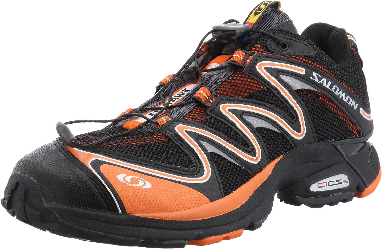 muerte a la deriva Vagabundo  SALOMON XT Hawk Trail Running Shoe - Men's Black/Clemantine/Autobahn, 8.5:  Amazon.co.uk: Sports & Outdoors