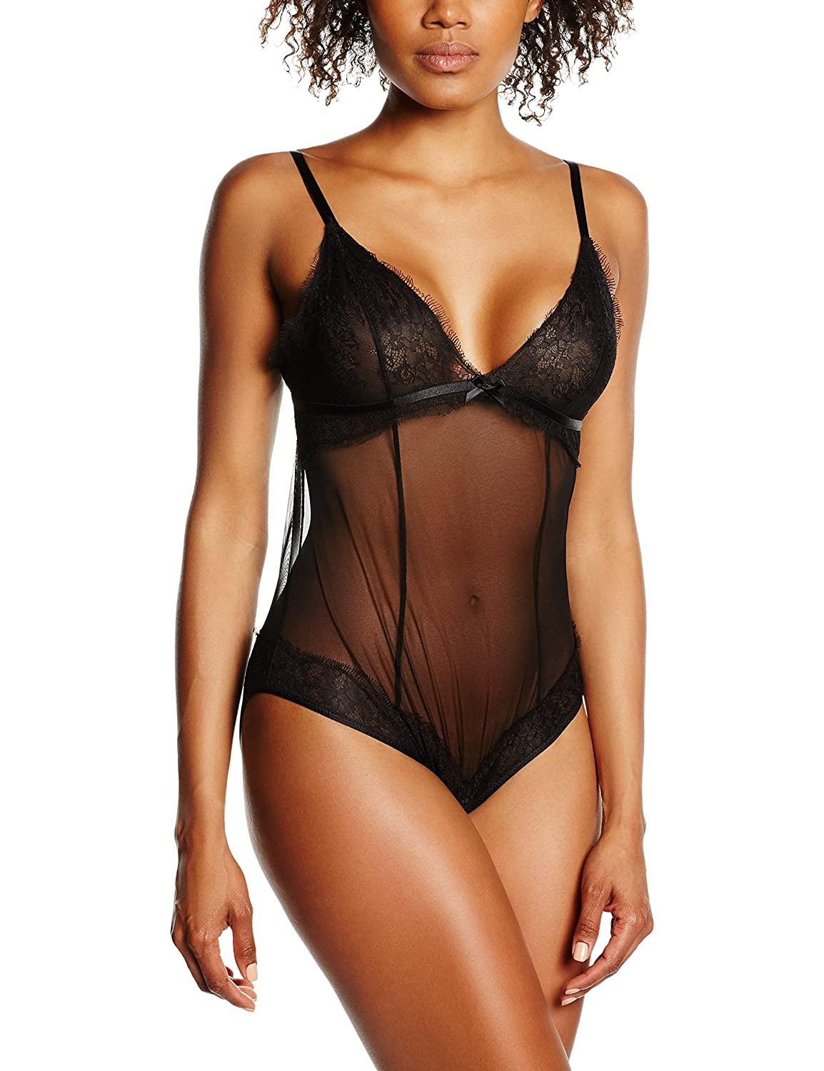 Maidenform Damen Formender Body Extra Sexy Eyelash Lace-Unlined Lace & Mesh