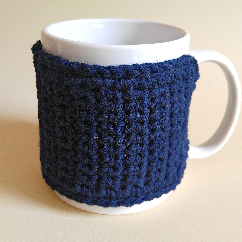 Cotton Coffee Mug Cozy Navy Blue Coffee Lovers Gift ...