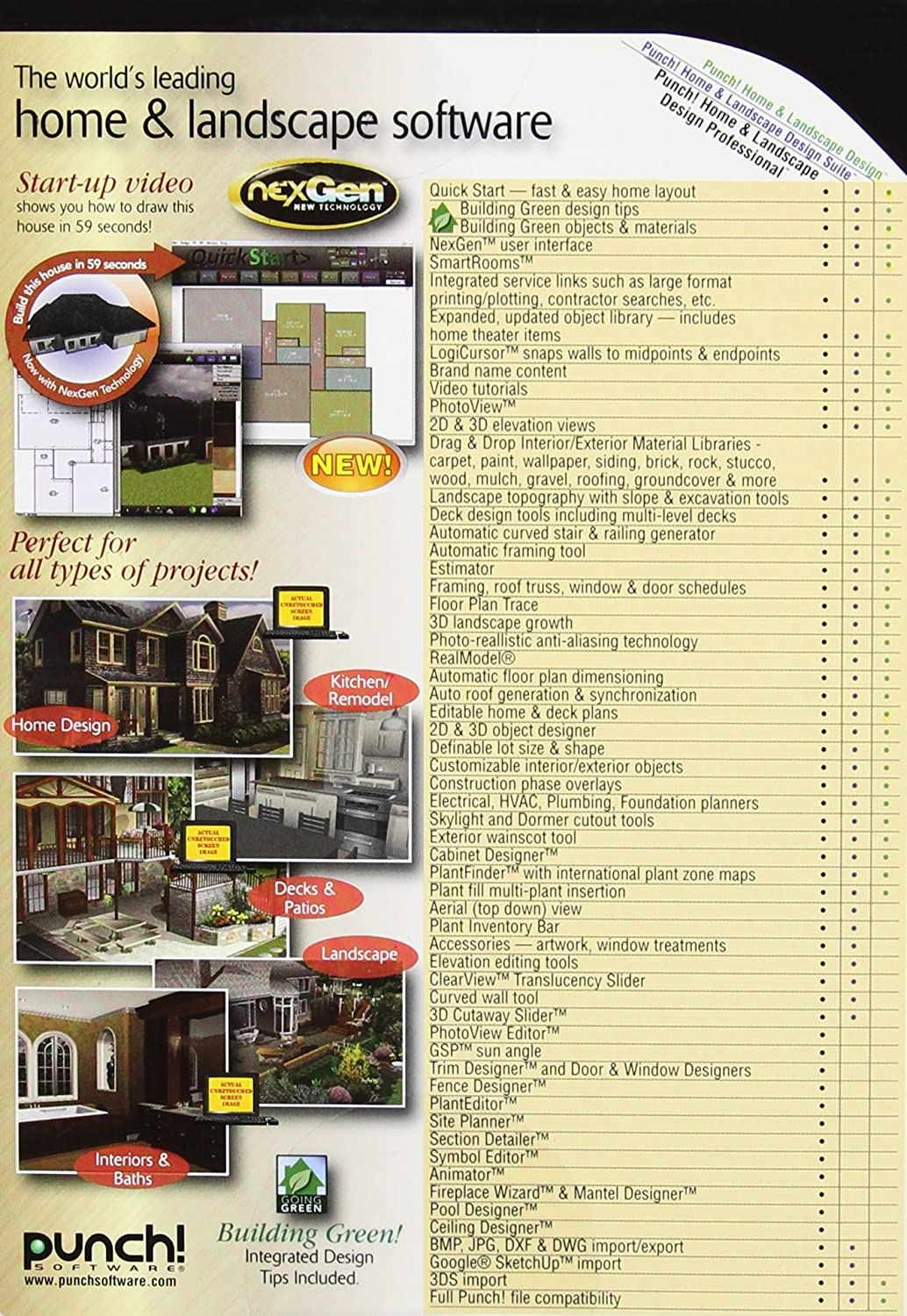 punch home u0026 landscape design pro nexgen pc software amazon ca