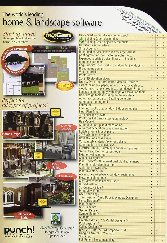 Amazon.com: Punch! Home U0026 Landscape Design Professional With NexGen  Technology [Old Version]: Software