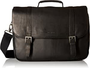 Samsonite Columbian Leather Flapover Case, Black (Black) - 45798-1041