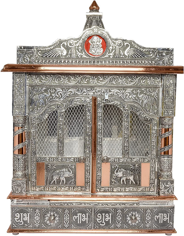Home Hindu Mini Puja Mandir/Temple/Alter/ Mandap with Doors - 22