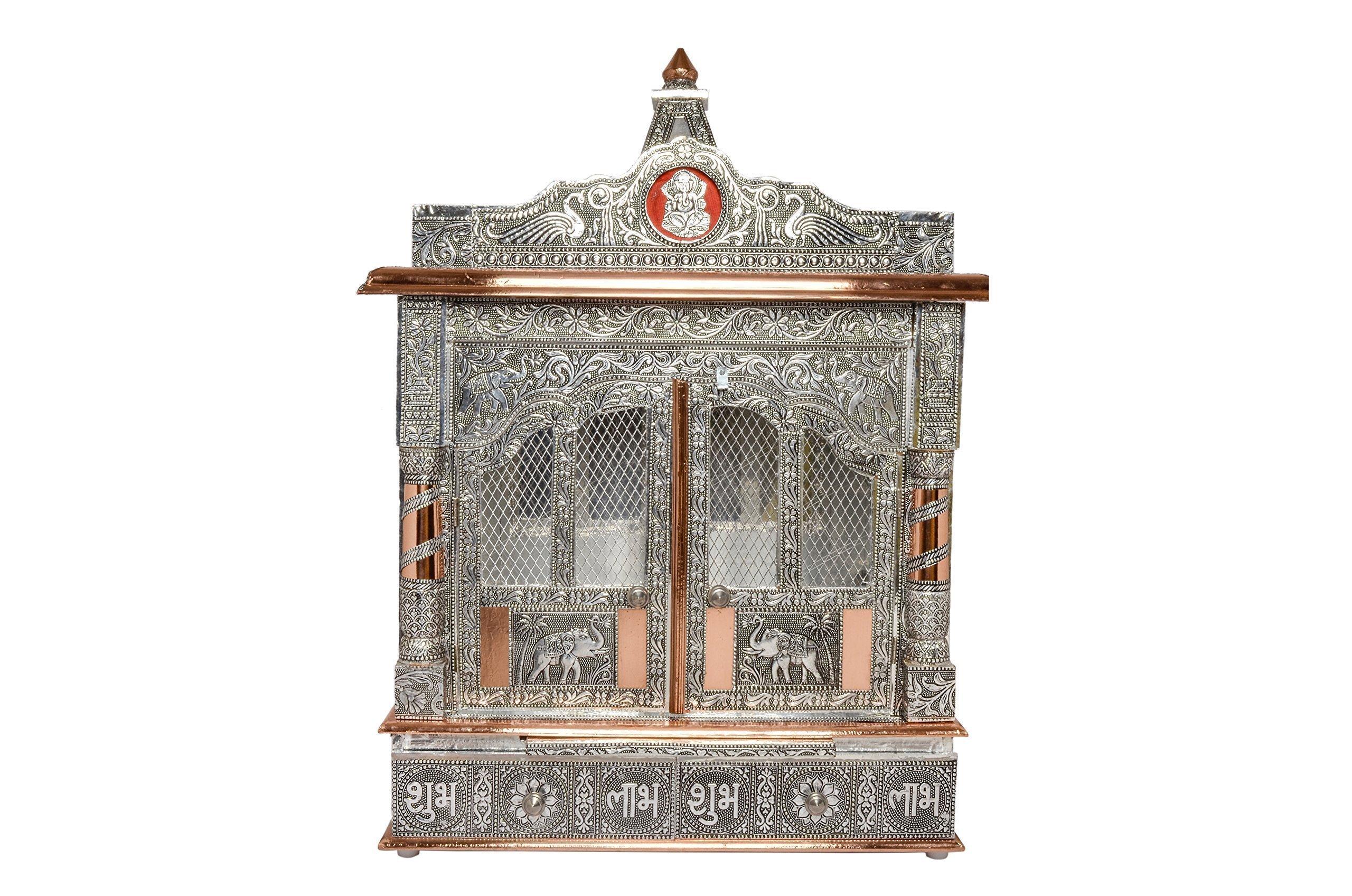 Movie Time Vdieo 59067-DL Hindu Puja Mandir/Temple/Alter, Aluminum Plated with Doors