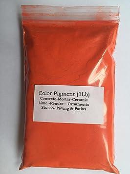 Naranja brillante (1 libra) pigmento /tinte para hormigón ...