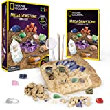NATIONAL GEOGRAPHIC Mega Gemstone Dig Kit – Dig Up 15 Real Gems, STEM Science & Educational Toys make Great Kids…
