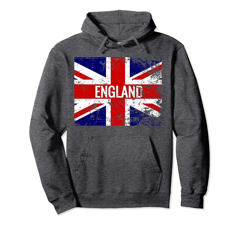 Amazon.com: Union Jack Distressed England British Flag Hoodie: Clothing