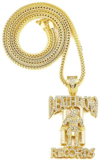 Amazon Deathrow Records Double Plated Iced Out Pendant 36