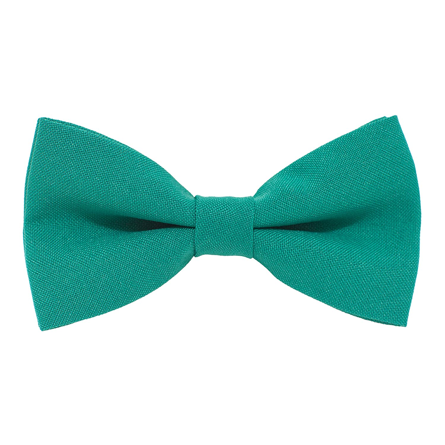 Classic Pre-Tied Bow Tie Formal Solid Tuxedo, by Bow Tie House (Small, Deep blue) 07261