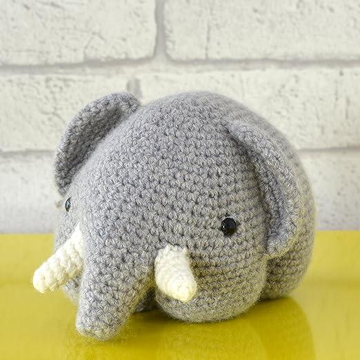 Juguetes de ganchillo gris Pink Elephant Esta super suave y mas ... | 522x522