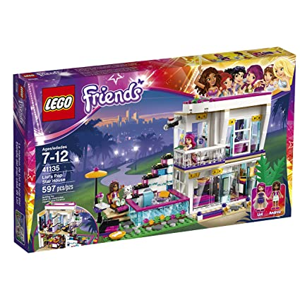 Amazoncom Lego Friends Livis Pop Star House 41135 Toys Games