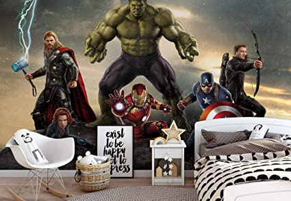 8da42cd40e6 Image Unavailable. Image not available for. Colour: Marvel Avengers Battle  - Photo Wallpaper - Wall Mural ...