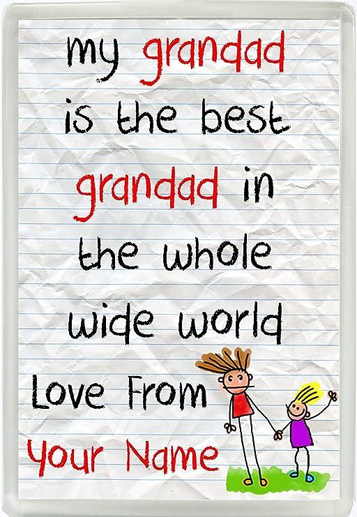 Mi abuelo es la mejor abuelo en el mundo amor de personalizada ...