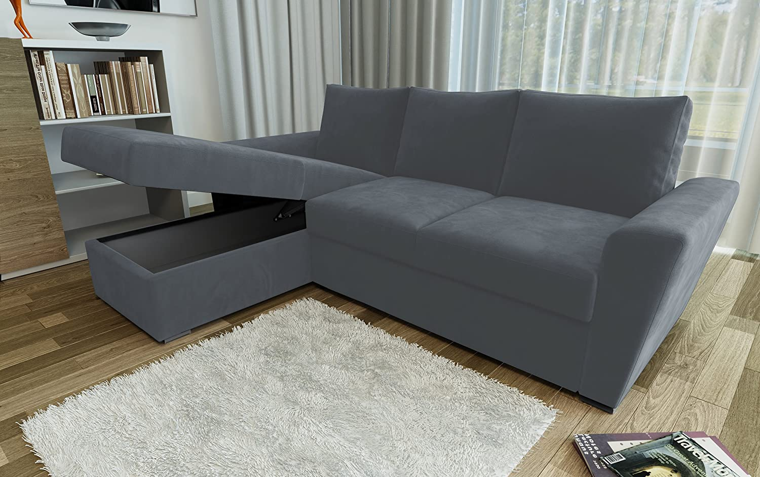 direct furniture stanford l shape left right corner sofa bed with rh amazon co uk l shaped sofa bed ikea sofa bed l shaped
