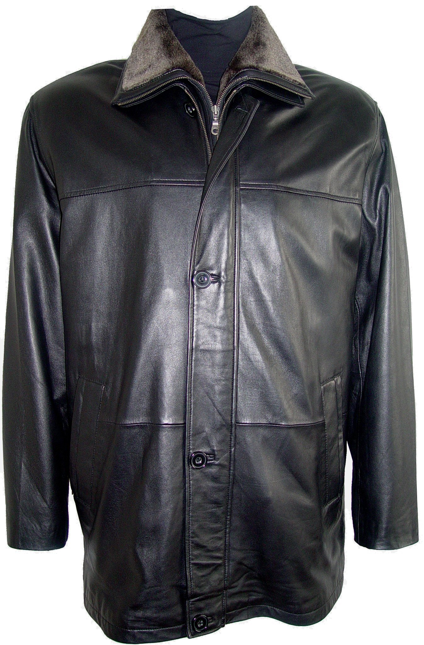Johnny 2001 Big Man Leather Jacket Business Clothing Coat Tall and All Size