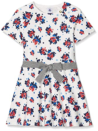 002ddbf5b7d Petit Bateau Robes Robe Fille Multicolore (Marshmallow Multico 01) 6 Ans  (Taille