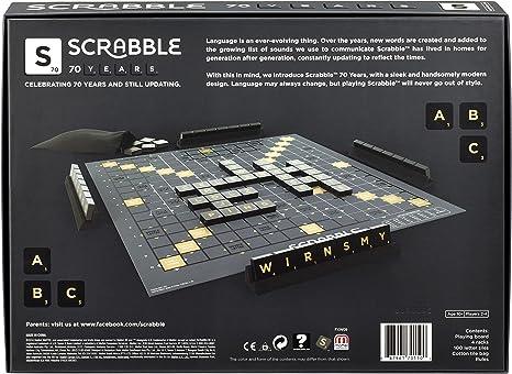 Mattel Games GCT19 Scrabble 70 años Edición de Aniversario Diccionario, Juego Familiar Adecuado para 2 – 4 Jugadores, duración de Juego Aprox. 60 Minutos, a Partir de 10 años.: Amazon.es: Juguetes y juegos