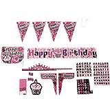 Forum Novelties Pink Zebra Birthday Cubicle Decorating Kit
