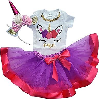 Disfraz De 1er Cumpleaños Para Niña Tutú Unicornio Clothing