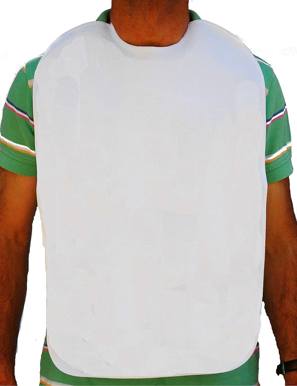 Baberos adulto, en rizo 100%algodón plastificado. Blanco. (40x60cm ...