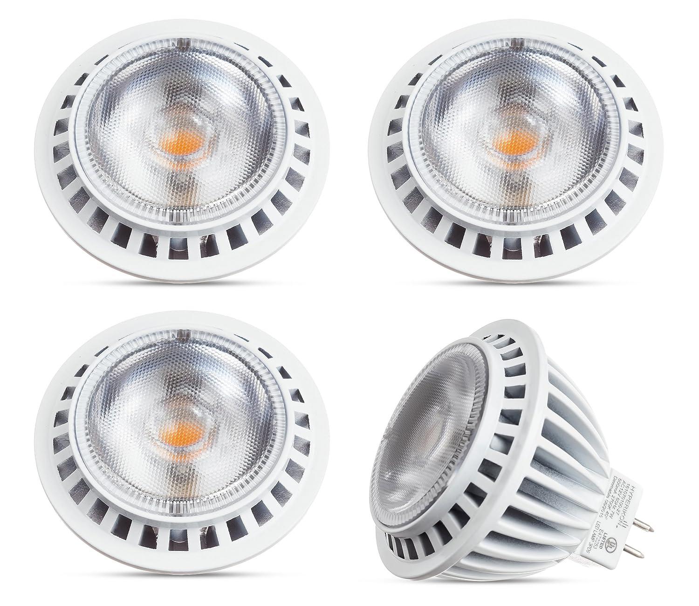 Hyperikon LED GU5.3 7W - Dimmable - MR16 Ampoule Spot - Blanc Neutre 4000K - 12vdc Éclairage Rail de Spot - Lot de 4 EU-161070107-4Pack