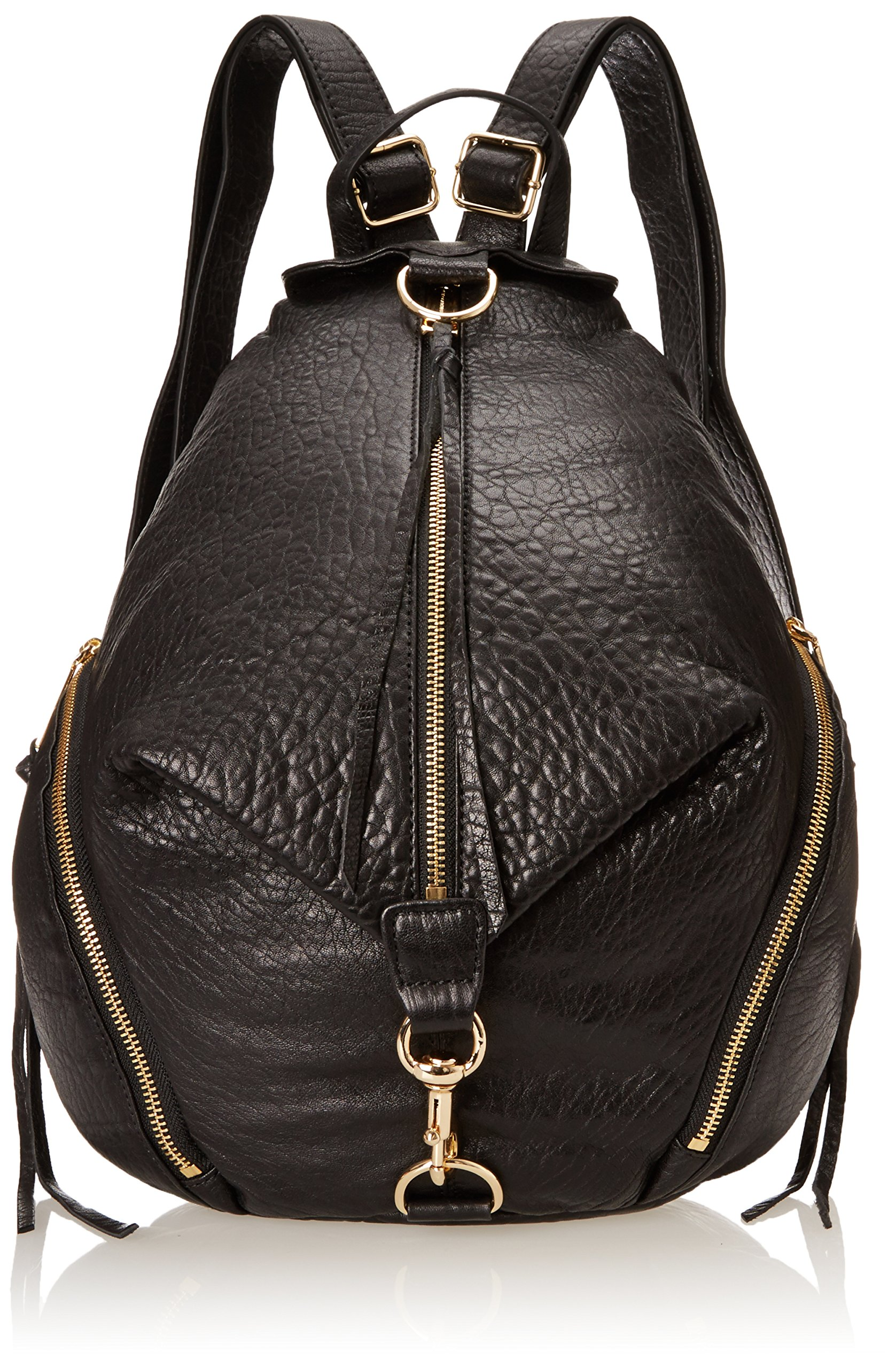 Rebecca Minkoff Julian Backpack Handbag, Black/Black,One Size