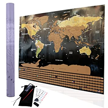 Amazon scratch off world map poster i travel tracker map i scratch off world map poster i travel tracker map i map pins i detailed usa map gumiabroncs Choice Image