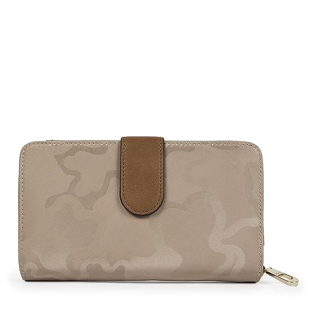 Mediano Valsaria Lona, Womens Wallet, Brown (Piedra), 2.5x11x18 cm (W x H L) Tous