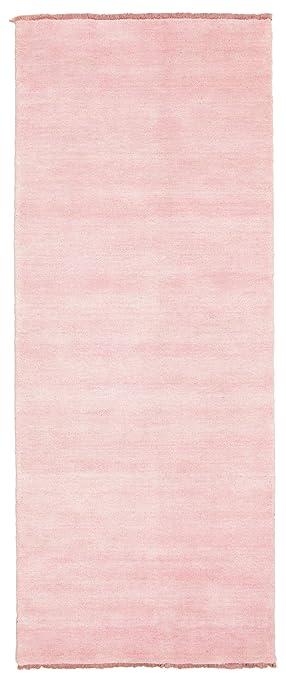 Teppich läufer rosa  Handloom fringes - Rosa Teppich 80x200 Moderner, Läufer Teppich ...