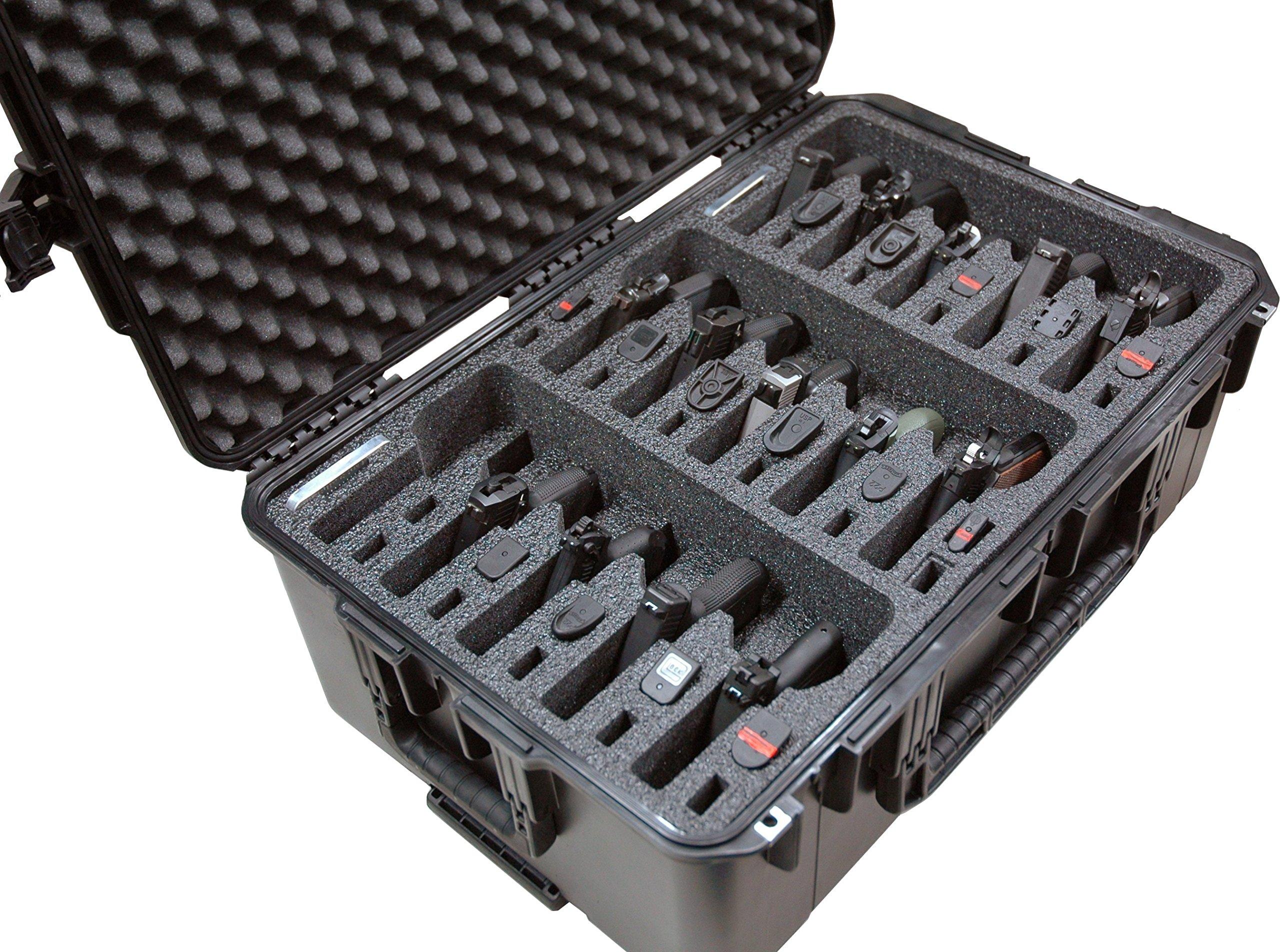 Case Club Waterproof 15 Pistol Case with Silica Gel