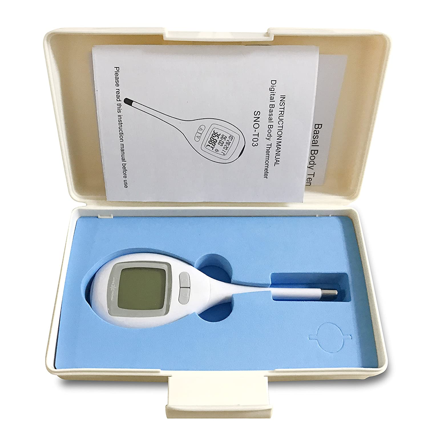 Amazon.com: iSnow-Med High Accuracy (0.09°F) Digital Basal Thermometer to Test Basal Body Temperature (BBT), 60 Days Memory for Ovulation Chart Track, ...