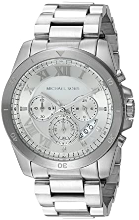 e85a44900bd6 Amazon.com  Michael Kors Men s Brecken Silver-Tone Watch MK8562  Watches