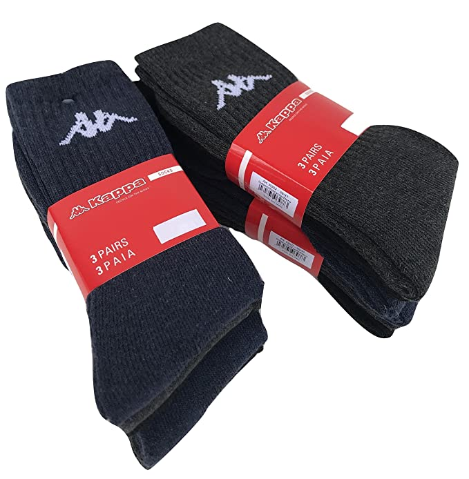 Kappa . 6/12 pares de calcetines, calcetines deportivos de espuma, altura Media