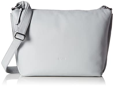 Damen Toulouse 1, Silver Grey, Cross Sh. S W17 Umhängetasche, Silber (Silver Grey), 20x4x19 cm Bree