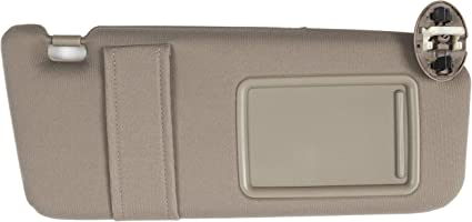 Ezzy Auto Beige Left Driver Side Sun Visor fit for Toyota RAV4 with Sunroof 2006 2007 2008 2009 2010 2011 2012 2013