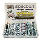 150pc Specbolt Yamaha vintage YZ IT Bolt Kit 125 175 200 250 400 425 465 490 500 Maintenance Restoration YZ125 IT175 IT200 YZ250 IT250 MX360 YZ400 IT400 IT425 YZ465 IT465 YZ490 IT490 WR500 MX DT GT WR (Color: BRILLIANT SILVER ZINC, Tamaño: 150 PIECES FACTORY SIZE HARDWARE)